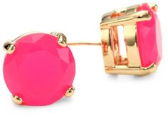 Kate Spade Hot Pink Large Studs, cute!!