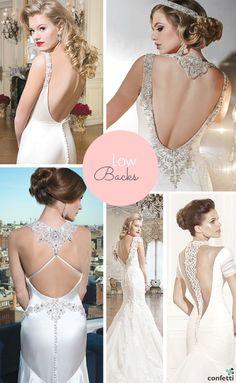 Wedding dresses with low backs | Confetti.co.uk