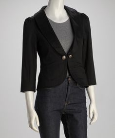 Take a look at this Black Blazer on zulily today!