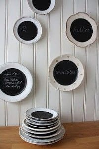 Chalkboard Plates for quick gifts to make!