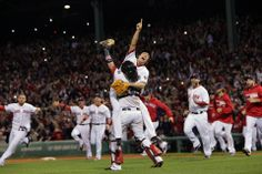 Boston, MA - 10/19/13 - (9th inning) The Boston Red Sox take on the Detroit Tigers in Game 6 of the ALCS at Fenway Park. - (Barry Chin/Globe...