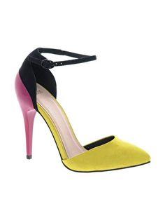 Bild 1 von ASOS – PRIORITY – Spitz zulaufende Schuhe mit hohem Absatz