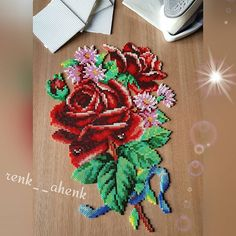 Flower bouquet hama beads by renk__ahenk
