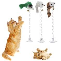 "Gray 7/"" Long Cat Kitten Toy Choose Quantity Rattling Fuzzy Mice w Tail"