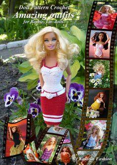 Modern Crochet for Barbie! PDF Doll Pattern Crochet 7 outfits