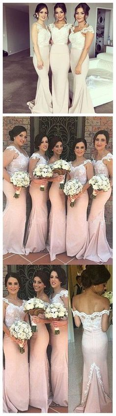 Charming Off Shoulder Lace Mermaid On Sale Sexy Long Wedding Guest Dresses, The long bridesmaid dresses are fully lined, 4 bones in the bodice, chest pad in the bust, lace up back or zipper back Mermaid Bridesmaid Dresses, Mermaid Dresses, Wedding Bridesmaids, Prom Dresses, Dresses 2016, Long Dresses, Dance Dresses, Dress Long, Lace Mermaid