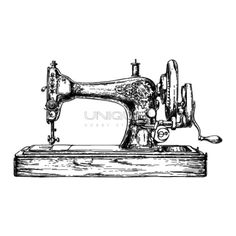 Unique Hobby Products Unique Hobby Stamps - Nähmaschine #1 - 64 mm x 38 mm - (UHKS31024)