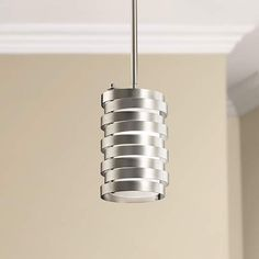 Kichler Roswell Nickel 5 1/4-Inch-W Mini Pendant - #EU6M079 - Euro Style Lighting
