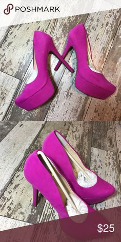 Jessica Simpson Waleo hot pink Brand new size 9. Never worn. Micro suede Jessica Simpson Shoes Heels
