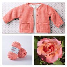 Petit gilet pour bébé avec poches - La Malle aux Mille Mailles