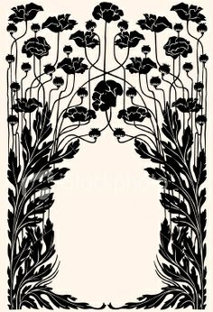 Art nouveau garden border Royalty Free Stock Vector Art Illustration What emily likes about it: This kind of flower pattern could be really pretty on a cake! maybe in gold over blush pink? Motifs Art Nouveau, Design Art Nouveau, Motif Art Deco, Art Nouveau Pattern, Art Design, Graphic Design, Art And Illustration, Illustrations, Art Nouveau Pintura