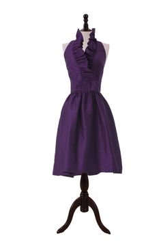 Ruffle Halter Dress For Cocktail Party