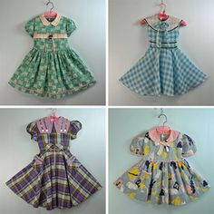 Vintage dresses by Ninainvorm, via Flickr