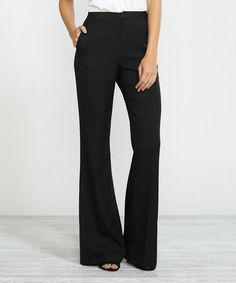 Loving this Black Flare Pants on #zulily! #zulilyfinds