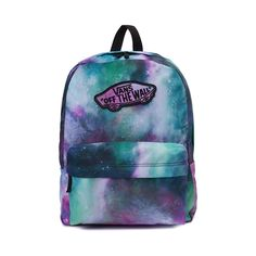 Shop for Vans Realm Galaxy Nebula Backpack in Galaxy Nebula at Journeys Shoes. Shop today for the hottest brands in mens shoes and womens shoes at Journeys.com.Classic, simple, and dependable. This Vans Realm Backpack touts timeless skate style, featuring a multicolored galaxy nebula canvas exterior, front zip utility pocket, embroidered Vans logo, and adjustable shoulder straps. Dimensions L 12.75 x W 4.5 x H 16.75
