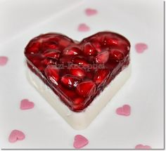 Valentines Day Desserts, Hungarian Recipes, Panna Cotta, Cheesecake, Cherry, Dessert Recipes, Pudding, Mint, Fruit