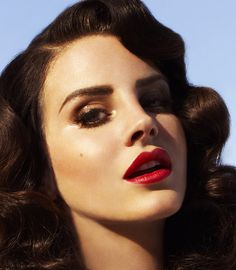 Vintage Beauty Lana Del Rey - Wedding Reception Hair  Makeup Ideas.