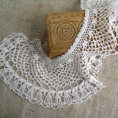 Vintage Accessories white lace collar 1970s Womens by MyWealth, $5.20
