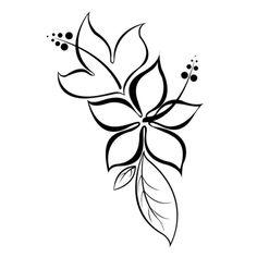 Stylized lotus flower tattoo