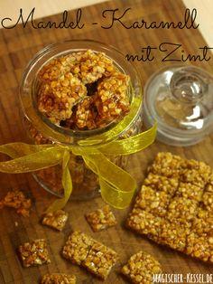 Mandelkaramell mit Zimt - eine selbstgemachte Süßigkeit aus nur drei Zutaten, die fast jeder Zuhause hat.