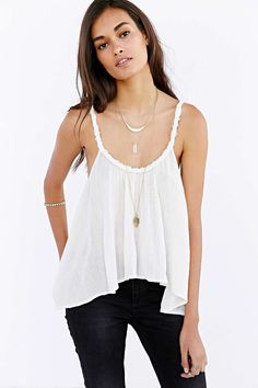 Band Of Gypsies Gauze Swing Cami - Urban Outfitters