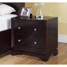 abbyson kingston 2drawer espresso nightstand by abbyson