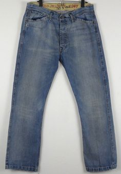 Polo Jeans Co. 1967 Parnell Jeans Bootcut Distressed 36 x 32 Measures 34 x 32 #PoloJeansCo #BootCut