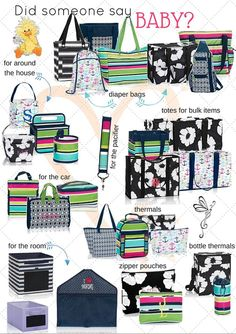Tons of helpful ways to coral all those baby things! www.talkbags.com