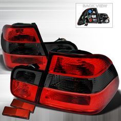 99-01 BMW E46 3 Series (4 Door) Altezza Red Smoke Tail Lights
