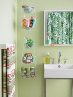 Creative Storage Idea For A Small Bathroom