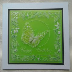 Clarity Groovi Plates card inspired by Paul Church made by Lynne Lee
