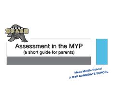 MYP Grading for parents