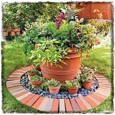 Διακόσμηση Κήπου: ιδέες-χειροποίητες κατασκευές από τούβλα | Woody's Ξύλινες Χειροποίητες Κατασκευές & Διακόσμηση Κήπου