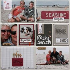 Check it out! Seaside Layout at Technique Tuesday.