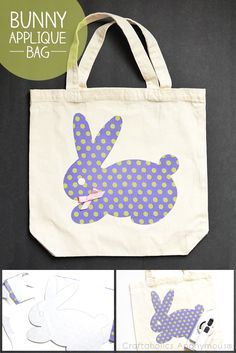 Craftaholics Anonymous® | We love the bunny pattern! And its no sewing!