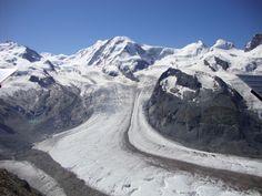 melting glacial. Switzerland