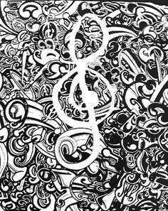 Adult coloring page Music