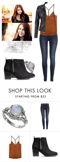 """""""Elena Gilbert - tvd / the vampire diaries"""" by shadyannon ❤ liked on Polyvore featuring H&M and maurices"""