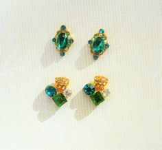 4 pcs of Green Nail Charms,Clustered Nails,Alloy Nail charm,3d nail Art,Wedding Nails,Nail Jewelry,Nail Bling,Nail Design,Nail Decoration,