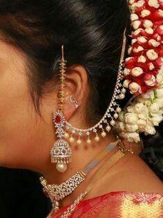Gold Jewelry In Nepal Gold Jhumka Earrings, Jewelry Design Earrings, Gold Earrings Designs, Gold Jewellery Design, Ear Jewelry, Designer Earrings, Handmade Jewellery, Bridal Jewelry, Gold Jewelry