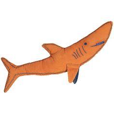 Buy little home at John Lewis Walk The Plank Shark Cushion, Orange Online at johnlewis.com