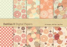 Dahlias II Digital Papers by GraphikCliparts on Creative Market