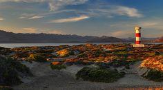 The Lighthouse at Bahia de Los Angeles, Baja California, Mexico.