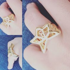 #blue #like4like #likes #likeforlike #like #a #star #new#collection#paulaferreira#semijoia#revenda #fashion #for #today #or #tomorrow #style #imagine #more #basic #to #you #peace #and #love #gold #ring
