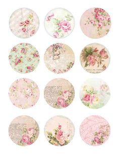 Edible wafer paper vintage Shabby Chic cookie and cupcake toppers. by TlcEdibles on Etsy https://www.etsy.com/listing/225543007/edible-wafer-paper-vintage-shabby-chic