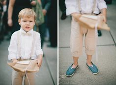 Ring Bearer.  So adorable for Logan! Maybe don't roll the pants up tho..