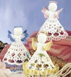 Free Crochet Patterns: Free Christmas Angels Crochet Patterns.  AWESOME DIFFERENT ONES!!: