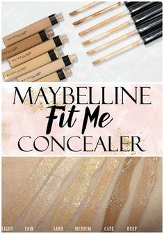 Every single Maybelline concealer swatched! It& hard to color match face makeup but this beauty swatch post will help you see what color is best for you. Makeup Geek, Cute Makeup, Drugstore Makeup, Skin Makeup, Makeup Remover, Beauty Makeup, Makeup Brushes, Cosmetic Brushes, Best Drugstore Concealer