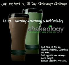 Join my next 30 day Shakeology Challnge April 1st coming up soon! Message me for how to place your order and get in on an already filling group! 10 spots remaining.. www.facebook.com/MaFit or message me here .. Place orders at www.myshakeology.com/mwilliaby