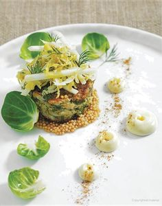 Crab Cakes with Brussels Sprouts Slaw